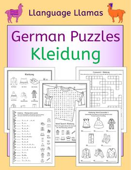 German Clothing - Kleidung - Puzzles