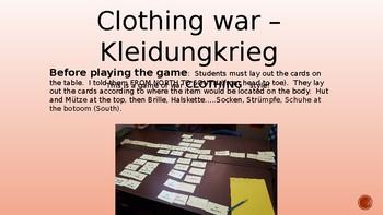 German Clothing War - KLEIDUNGKRIEG GAME