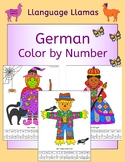German Color by Number - fun people pictures - pirate, clo