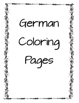 German Coloring Pages