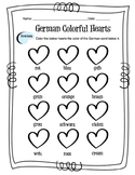 German Colors Worksheet