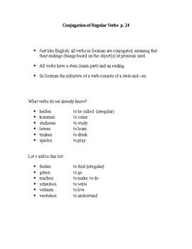 German - Conjugation of Regular Verbs