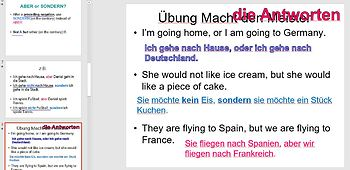 German Conjunctions (Coordinating and Subordinating) PowerPoint
