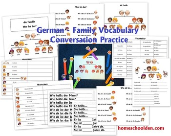 German Conversation Packets (Family, Weather, Seasons, Clothing)