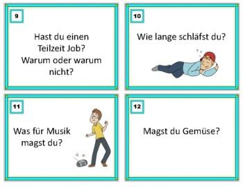 German Conversation Starters: Task Cards - Deutsch Sprechen (Beginners A1/A2)