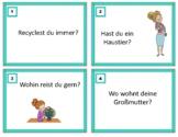 German Conversation Starters: Task Cards - Deutsch Sprechen (Beginner Level)