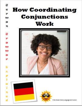 German Coordinating Conjunctions - Self Paced Paperless / Printable Video Guide