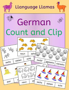 German Numbers Zahlen Count and Clip - practice number wor