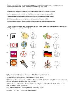German Cover/Supply/Substitute Work - die Schule