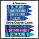 Crayons in German / German Colors (High Resolution)