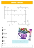 German Crossword: Fruits / Früchte - English to German translation