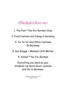 German Culture * Bundle