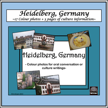 German Culture – Color Pictures for Oral Work - Heidelberg , Germany