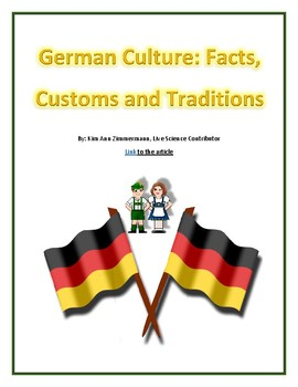 German Culture: Facts, Customs and Traditions  - Reading Guide