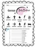 German Daily Routines Worksheet Packet