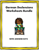 German Declensions Mini Bundle: Adjective Endings, Articles - 6 Worksheets!