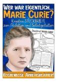 German / Deutsch: Steckbrief - Marie Curie  (Vorstellung /