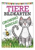 German / Deutsch Tiere flash cards - growing bundle! Kate Hadfield designs