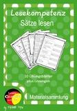German- Deutsche Lesekompetenz fördern Arbeitsblätter - Sä