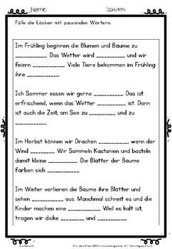 German- Deutsche Lesekompetenz fördern Arbeitsblätter - Texte lesen