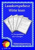 German- Deutsche Lesekompetenz fördern Arbeitsblätter - Wö