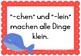 German- Deutsche Merksätze Poster- FREEBIE