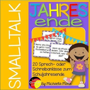 German- Deutsche Schreib- und Sprechanlässe zum Jahresende