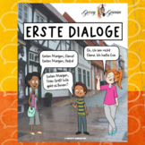 German Dialogues, Greetings, First Phrases, and Questions