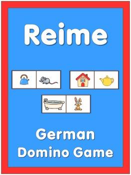 German Domino Game  Reime