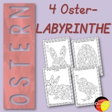 German Easter activity- 4 deutsche Osterlabyrinthe