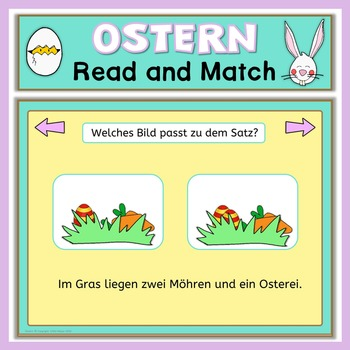 German Easter Game  read and match