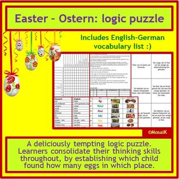 German Ostern Easter - logic puzzle, thinking skills