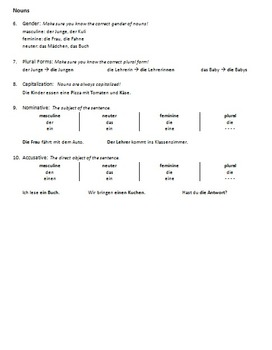 German Editing Checklist