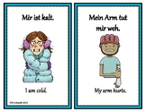 German Emotions/Feelings/Conditions: 14 Mini Posters: Dative/Haben Expressions