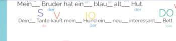German Endings with Der and Ein Words - Deutsche Endungen