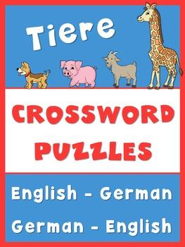 German/English Crossword Puzzles  Tiere/Animals