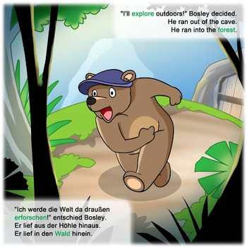 German / English Dual Language Book: Bosley Sees the World