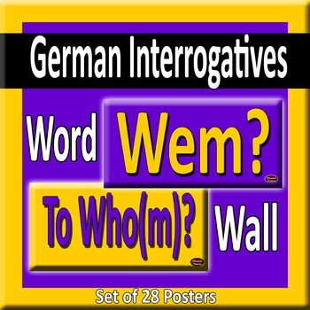 German & English Question Words/Interrogatives Word Wall Posters