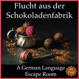 German Escape Room: Escape the Chocolate Factory (NO PREP)