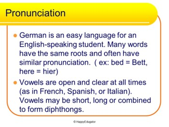 German - Essential German PowerPoint