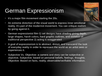 German Expressionist Film