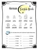 German Fairytale Words Worksheet Packet