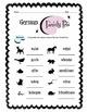 German Family Pets Worksheet Packet