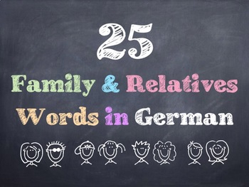 German Family & Relatives Words PowerPoint