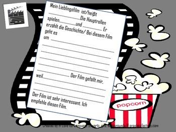 German Film Movie Vocabulary Film beschreiben (Niveau A2-B2)