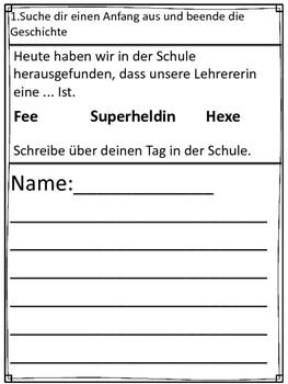German- Finish the Story- 11 Beende die Geschichte