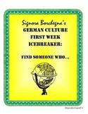 German First Week Scavenger Hunt / Find Someone Who
