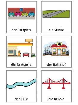 German Vocabulary Cards  In der Stadt