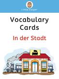 German Vocabulary Cards  In der Stadt