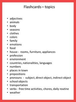 german flash cards basic vocabulary by little helper tpt. Black Bedroom Furniture Sets. Home Design Ideas